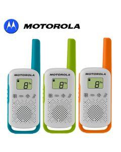 4Km Motorola TLKR T42 Walkie Talkie 2 Two Way PMR 446 Radio 3 Triple Colour Pack