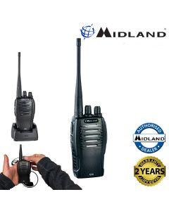 Midland G10 PMR446 License Free Handheld Two Way Radio Walkie Talkie Black