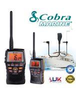 COBRA MR HH150 EU Version Floating Waterproof Handheld VHF Marine LCD Radio with Comtechlogic® CM-70PT Headset